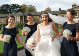 Wedding photography, bride, bridesmaids, London