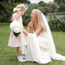 Wedding photography bride and bridesmaid Hampton Middlesex