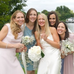 Wedding photography Bride and bridesmaids Hampton Middlesex SW London