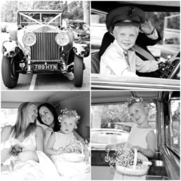 Wedding photography car Hampton Middlesex