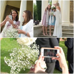 Wedding photography bride and bridesmaids selfie